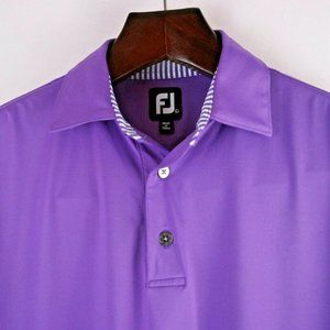 FOOTJOY Men's Purple Short Sleeve Golf Polo Shirt